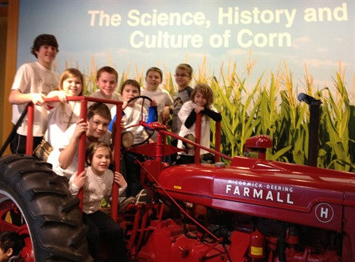 Cropped Kids On Tractor At Indiana State Museum 2013 2